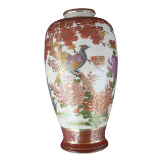 Late 19th Century Antique Satsuma Vase For Sale