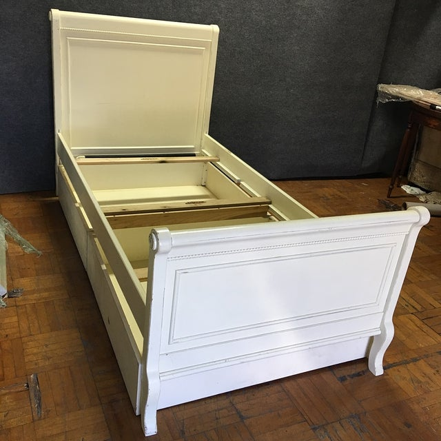 White Twin Bed with Drawers - Image 2 of 8