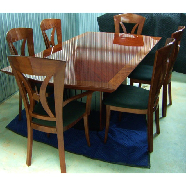 Contemporary Italian Dining Room Set By Excelsior Designs For Sale In Atlanta