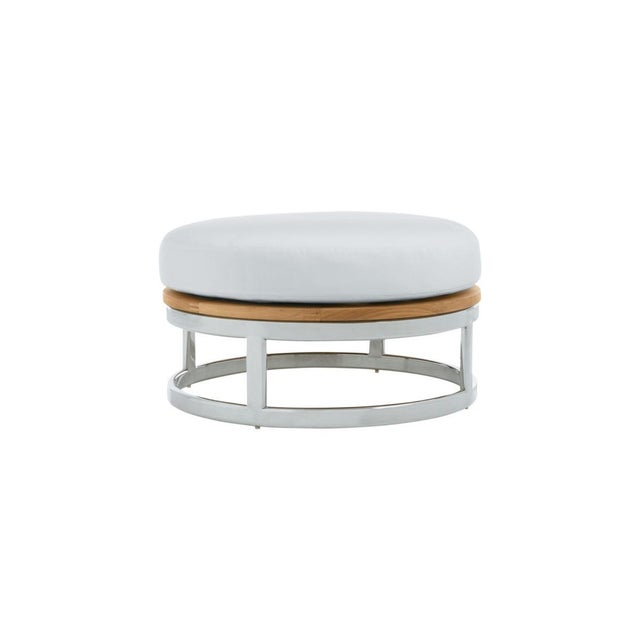 """Contemporary Summit Furniture Picket 30"""" Round Footrest-ss Base For Sale - Image 3 of 3"""