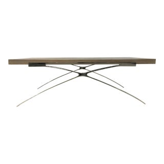 Organic Modern Elm and Nickel Cocktail Table By: Interlude Home For Sale