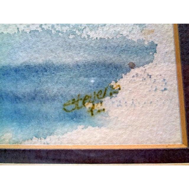 "Abstract Karen Stevens (Washington/Texas, 1950-2017) Original Watercolor Seattle ""Warf"" For Sale - Image 3 of 9"