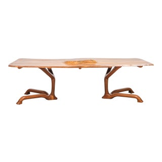Large Ejner Pagh Sculptural Walnut Dining Table, Usa, 1974 For Sale
