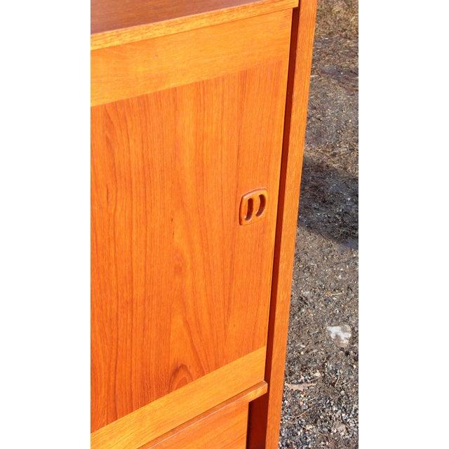 Wood Clausen & Søn Silkeborg Mid-Century Danish Modern Teak Hutch Credenza For Sale - Image 7 of 10