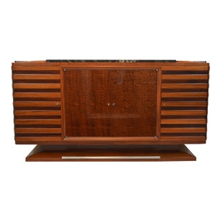 Fabulous Gaston Poisson Art Deco Sideboard in Two-Tone Mahogany, 1930s For Sale