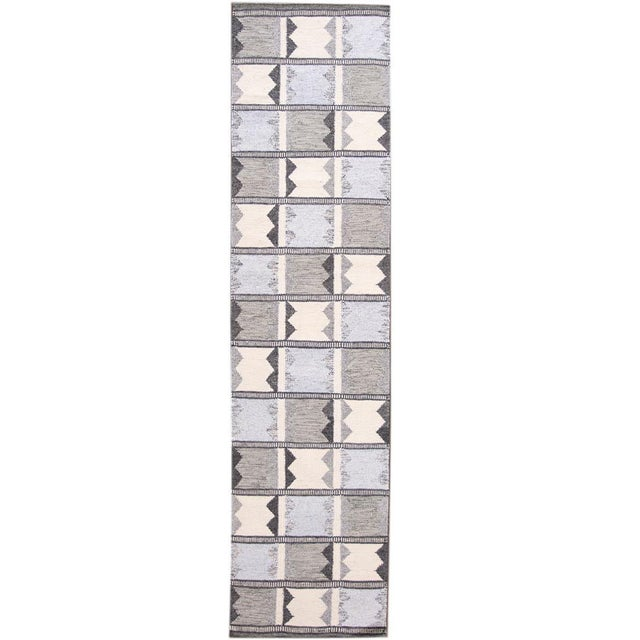21st Century Contemporary Swedish Style Runner Rug, 3' X 12' For Sale - Image 11 of 11