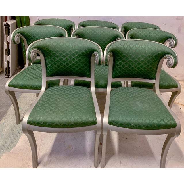 Set of 8 Casa Stradivari Neo-Classical Klismos Dining Chairs For Sale - Image 12 of 12
