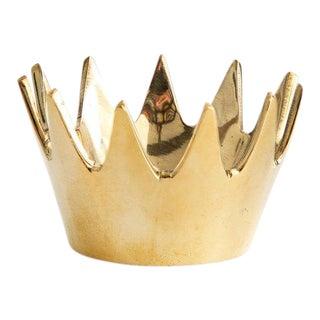 Carl Auböck Mid-Century Modern 'Crown' Brass Bowl For Sale
