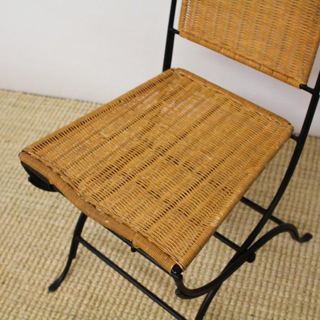 Pottery Barn Metal & Wicker Patio Chairs - S/3 - Image 3 of 8
