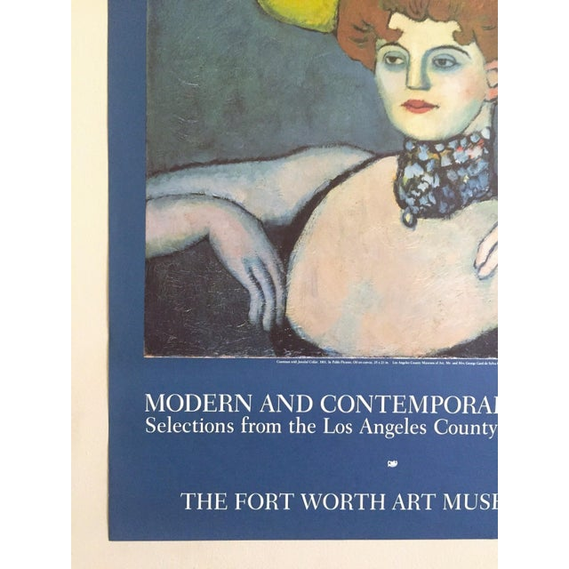"""Pablo Picasso Vintage 1985 Lithograph Print Exhibition Poster """" Courtesan With Jeweled Collar """" 1901 For Sale In Kansas City - Image 6 of 13"""