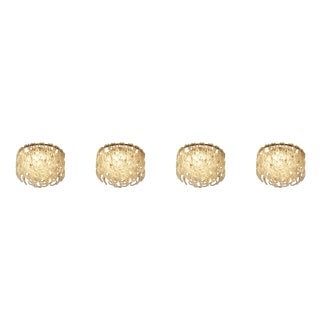 Modern Italian Crystal Ceiling Lights - Set of 4 For Sale