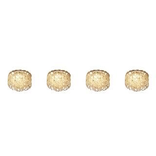 Set of Four Modern Italian Crystal Ceiling Lights For Sale