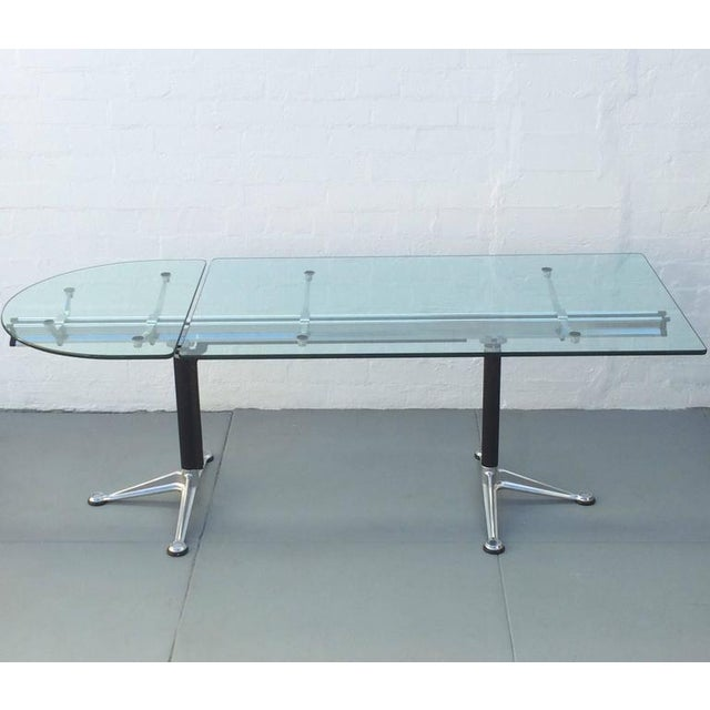 Glass and Aluminum Table Designed by Bruce Burdick for Herman Miller For Sale In Palm Springs - Image 6 of 9