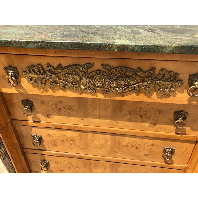 Biedermeier Antique Biedermeier Style Chest of Drawers For Sale - Image 3 of 9