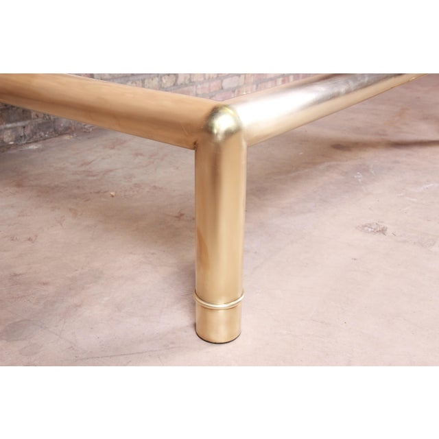 Brass Mastercraft Monumental Hollywood Regency Chinoiserie Brass and Glass Cocktail Table For Sale - Image 8 of 10