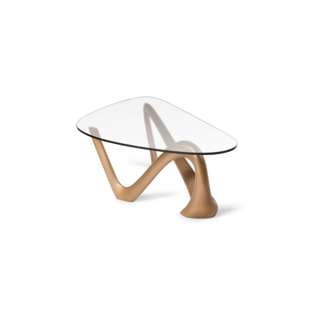 Amorph Iris Coffee Table - Gold Finish For Sale In Los Angeles - Image 6 of 9