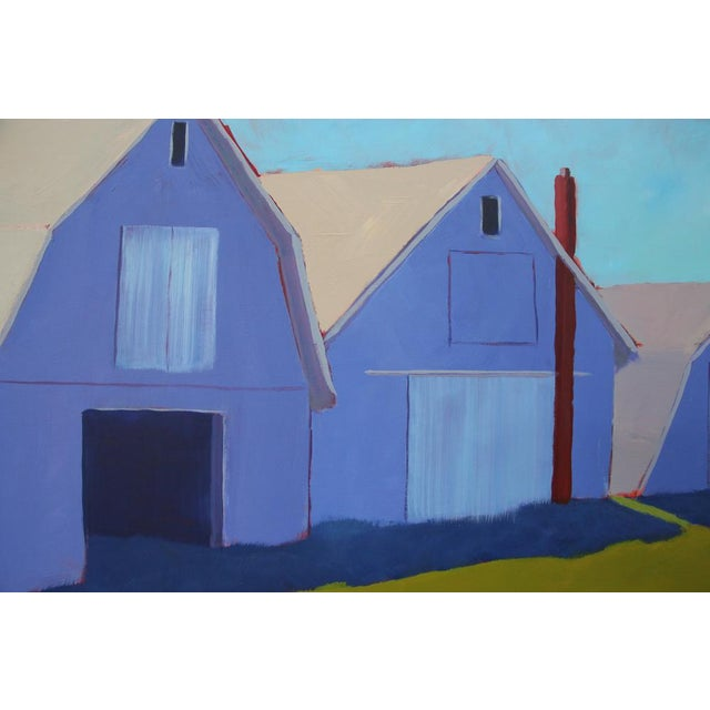 """Abstract Contemporary Landscape Painting """"1 Potato, 2 Potato 3 Potato Barn"""" by Carol C Young For Sale - Image 3 of 5"""
