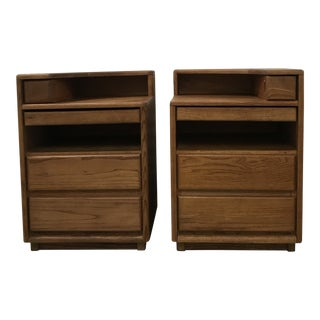 1960s Danish Modern wooden Nightstands - a Pair For Sale