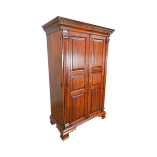 Statton Chippendale Large Solid Cherry 2 Door Chester Country Wardrobe Storage Cabinet