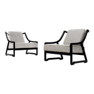 1950s Vintage Paul Laszlo Attributed Lounge Chairs- A Pair For Sale