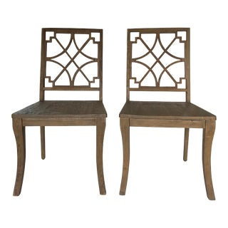 Gabby Lydia Oak Side Chairs - a Pair For Sale