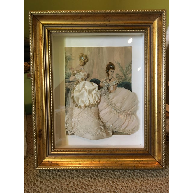 Cream 19th Century French Fashion Diorama For Sale - Image 8 of 8