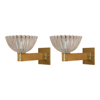 Pair Murano Sconces For Sale