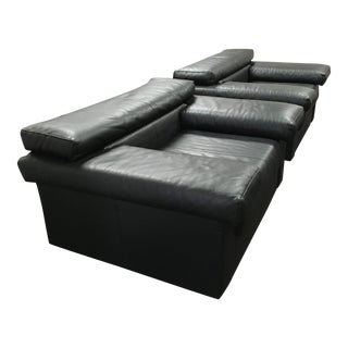 """Leather Lounge Chairs Model """"Erasmo"""" Afra & Tobia Scarpa for B&b Italia - a Pair For Sale"""