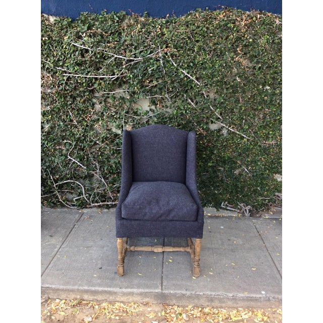 Traditional Blue & Gray Side Chairs - Set of 4 For Sale - Image 3 of 11