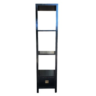 Asian Lacquer Wood Display Stand with Shelves For Sale