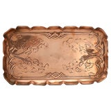 Image of Antique English Copper Beverage Tray For Sale