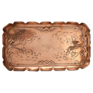 Antique English Copper Beverage Tray For Sale