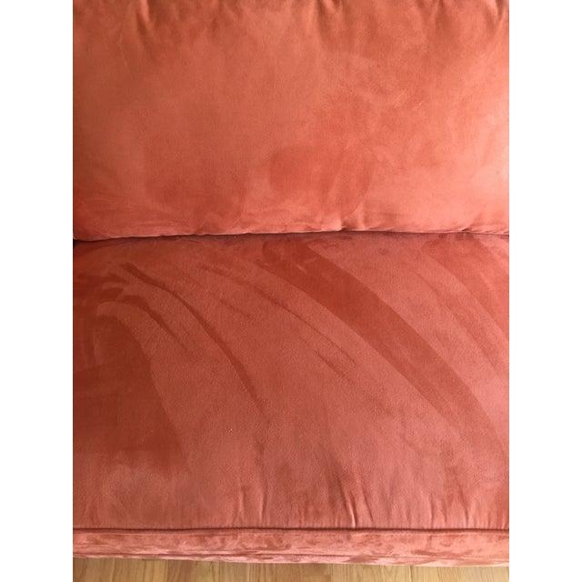 Arhaus Burnt Orange Velvet Sofa - Image 6 of 7