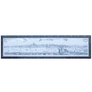 Large Framed Young London Cityscape Lithograph For Sale