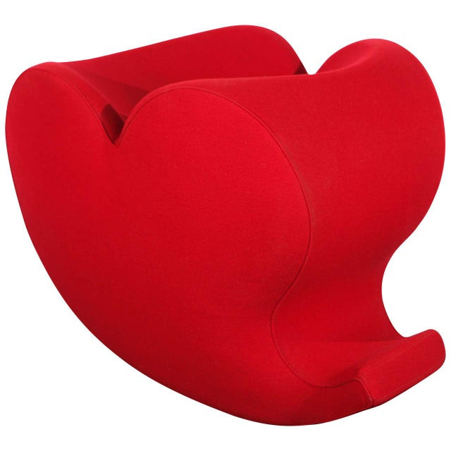 Textile 1990s Vintage Ron Arad, Moroso Heart Rocking Chair For Sale - Image 7 of 7