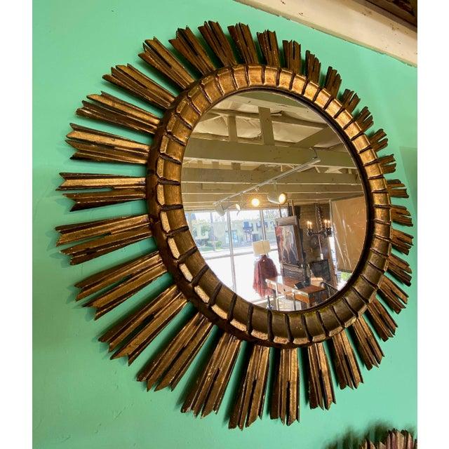 French Gilt Sunburst Mirror For Sale - Image 3 of 6