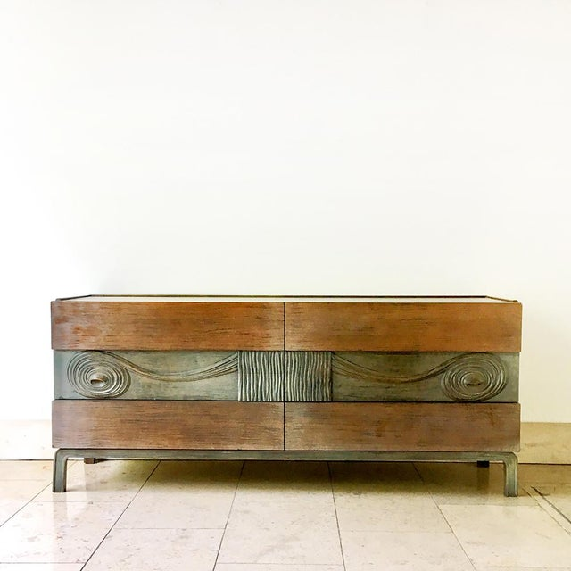 Wood Swedish Six Drawer Walnut Cabinet by Edmond Spence 1950s For Sale - Image 7 of 7