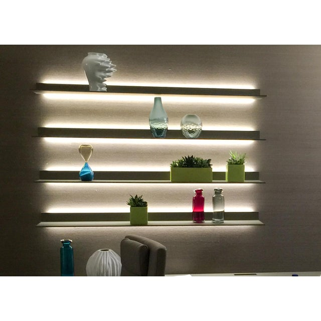 Rimadesio Abacus Wall Unit Shelves Drawers - Four Lighted Shelves And Three Touch Latch Drawers - Image 5 of 10