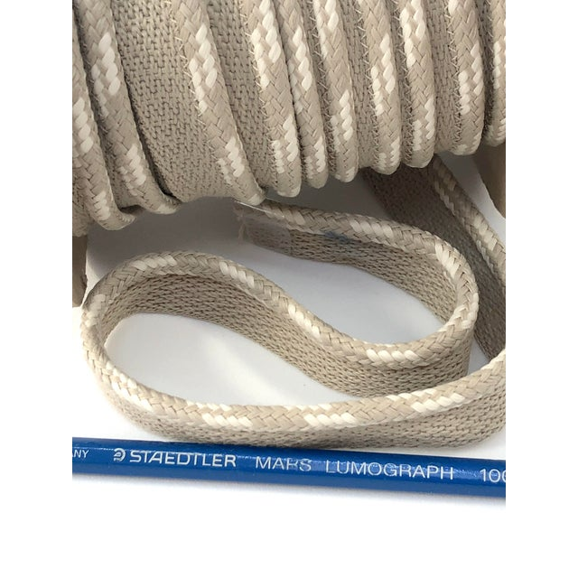 "Braided 1/4"" Indoor/Outdoor Cord in White-Ecru For Sale - Image 10 of 11"