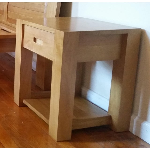 Brown Minimalist Japanese Nightstand For Sale - Image 8 of 8