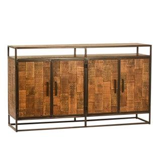Modern Mango Wood & Iron Sideboard
