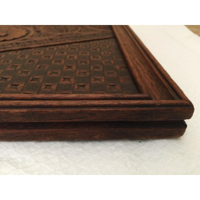 Vintage French Carved Wood Tray For Sale In Atlanta - Image 6 of 7