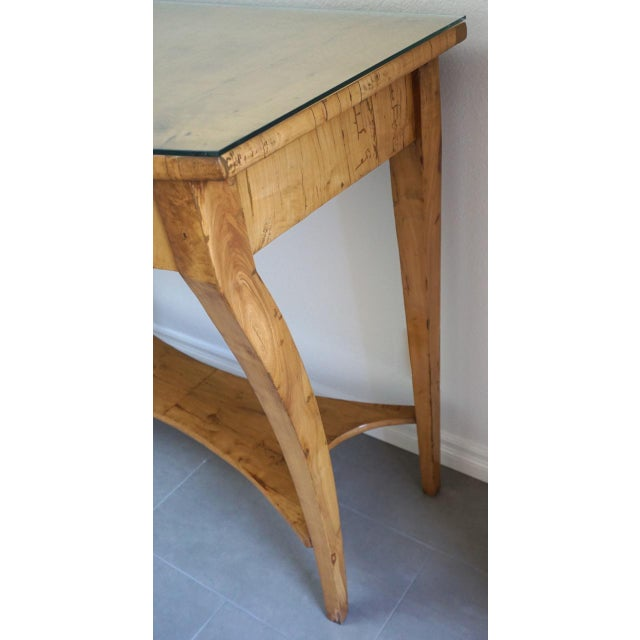 Early 19th Century 19th Century Austrian Biedermeier Birch Antique Pier Table For Sale - Image 5 of 13