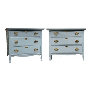 Vintage Country American Chippendale Style Three-Drawer Cabinets For Sale