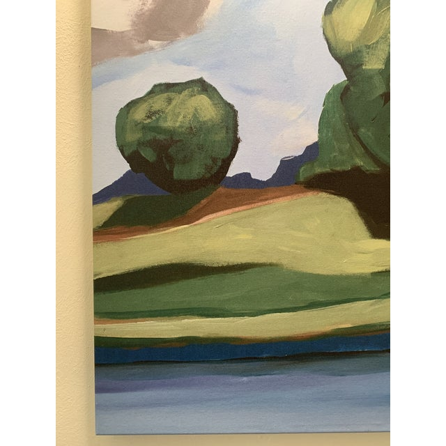 Green Summer Trees Large Pair of Prints on Canvas of Hand Painted Artwork - a Pair For Sale - Image 8 of 13