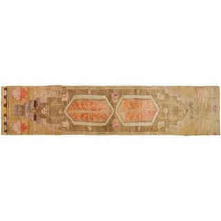 Vintage Oushak Runner Rug - 3′5″ × 16′4″