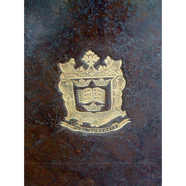 Early 18th Century Pair of Oxford University Leather Bookboard Lamps For Sale - Image 5 of 5