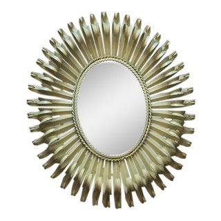Vintage Decorative Metal Mirror For Sale