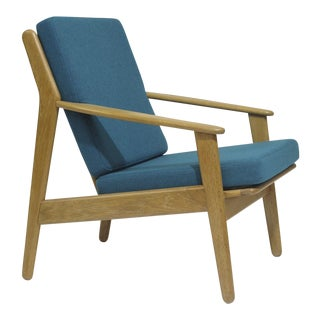 Poul Volther Danish Oak Lounge Chair For Sale
