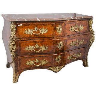 18th Century Marble Top French Regence Commode For Sale
